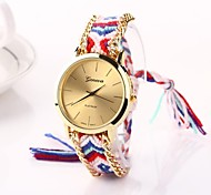 Women Big Circle Dial  National Hand Knitting Brand Luxury Lady Watch C&D-274