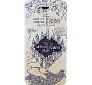 Marauder's Map Harry Potter Movie Series Pattern Clamshell PU Leather Full Body Case with Card Slot for iPhone 5C