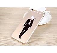 cover posteriore trasparente gofo uomo forma TPU per iPhone 6 più (colori assortiti)