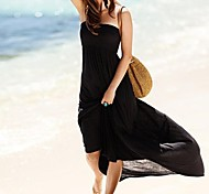 Women's Fashion Sexy Solid Bohemia Swimwear Swimsuit Bikini Beach Cover Up Holiday Long Dress