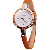 Damen Quartz PU Band Weiß / Orange / Rosa / Khaki Marke-