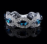 Luxury High Quality Round Big Crystal Bracelet(Blue&Gray)