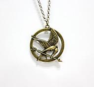 The Hunger Games Vogel Anhänger goldene Halskette-Legierung (1 PC)
