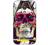 Butterfly Skull Design Hard Case for Motorola MOTO G