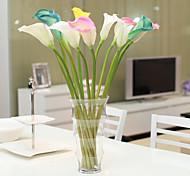 Set Of 2 Fake PU Calla Lily Flowers ,Resin Random Color