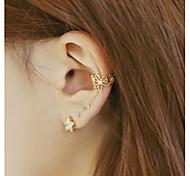 Fashion Flower Shape Alloy Ear Cuff (Gold,Pink,Silver) (1 Pc)