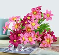 "11.8 ""l conjunto de um naturais 28 cabeças de margaridas de seda multicoloridos flores de pano (cores sortidas)"