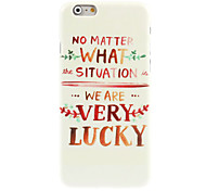 Very Lucky Design Hard Case for iPhone 6