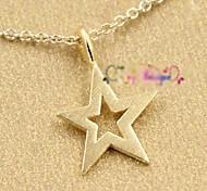 la mode brillante pendentif en étoile alliage or collier pendentif (avec la boîte d'emballage) (1 pc)