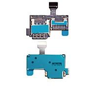novo leitor de cartão micro sd titular bandeja sim cabo flex para samsung s4 mini-i9195