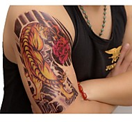 1 PC de imagen en color impermeable tigre patrón de fantasía del tatuaje pegatinas