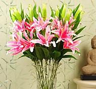"35.4""L Set of 1 Romantic Lilium Casa Blanca PU Flowers(Assorted Colors)"