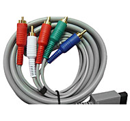 1.8M 5.904FT Wii 30Pin Male to 5RCA Male WII HD Video Audio TV Display Cable for Wii