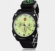Men's Watch Military Luminous Dial Fabric Band Sports Wrist Watch 3ATM Waterproof