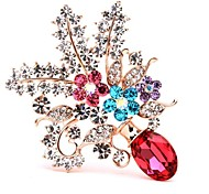 Romantic Pair with Female Fashion Jewelry Crystal Brooch
