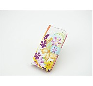 Flowers Pattern Full Body Case with Stand and Card Slot for iPhone 6