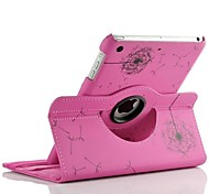 la rotación de granos de diente de león de la moda de la PU de la tableta funda de diseño de Mini iPad 2
