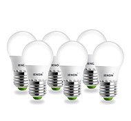 6 pcs IENON® E26/E27 3W SMD 240-270 LM Warm White G60 LED Globe Bulbs AC 100-240 V