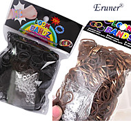 BaoGuang®600PCS Rainbow Color Loom Fashion Loom Rubber Band(24pcs Hook,Assorted Colors)