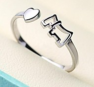 Simple pony tail ring Nvjie personalized ring