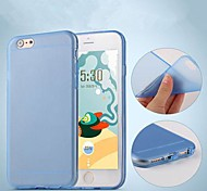 Two-Sided Dull Polish TPU Soft Back Case for iPhone 6 (Assorted Color)
