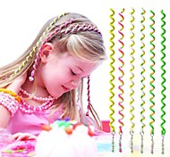 6Pcs 24cm Green Children's Curly Hair Rope