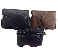 Dengpin Retro PU Leather Camera Detachable Protective Case Bag Cover with Shoulder Strap for Nikon Coolpix P7700 P7800