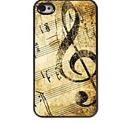 Retro Design Music Pattern Aluminum Hard Case for iPhone 4/4S