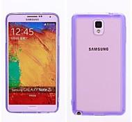 silicone lisse postes téléphoniques transparentes inférieurs mobiles pour Samsung Galaxy Note 3