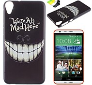 Black Teeth Pattern PC Hard Case and Phone Holder for HTC Desire 820