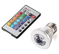 E26/E27 3 W 3 High Power LED 330 LM RGB Spot Lights AC 100-240 V