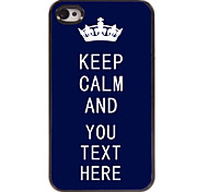 Personalized Case Blue Keep Calm Design Metal Case for iPhone 4/4S