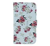 Blumenmuster 4,3-Zoll-PU-Mappenleder CASR für Samsung-Galaxie Core-Plus-G3500