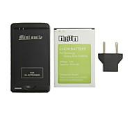 minismile ™ 4200mah sustitución de la batería de ion-litio con cargador de batería especial y enchufe de la UE para la galaxia nota 3 / N9000
