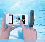 pvc wasserdichte Beutel 15m Unterwassertelefon Tasche mit Armband und Lanyard für iPhone 4 / 4S / 5 / 5s / 5c / 6/6 Plus und andere