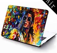 berühmte Gemälde michael jackson Design Ganzkörper-Schutzkunststoffgehäuse für 11-Zoll / 13 Zoll neue Mac Book Luft