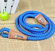 de haute qualité ronde laisse tricoter pour chiens de compagnie (m, couleur aléatoire)