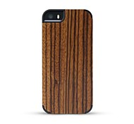 GMZS Wooden Case Zebrawood Wooden Back Cover for iPhone 5