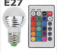 E26/E27 3 W SMD 2835 300-500 LM RGB Globe Bulbs AC 85-265 V
