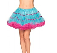 Pink and Blue Tutu Skirt Women's Carnival Petticoat
