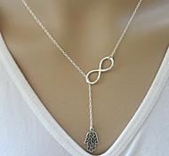 European Hand Infinite Necklace