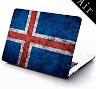 islanda bandiera grunge progettazione custodia in plastica protettiva per tutto il corpo per 11-inch / 13-inch nuovo Mac Book Air