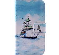 Ship Pattern PU Leather Full Body Case for HTC Desire 500