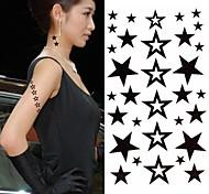 Tatuaje de la estrella de la moda pegatinas 1pc tatuajes temporales