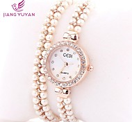 GEDI® Luxury Brand Women Watches Fashion Rose Gold Rhinestone Pearl Band Quartz Watches Women