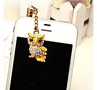 Owl Pendant Transparent Base Anti-dust Earphone Jack for iPhone/iPad and Others(Assorted Colors)