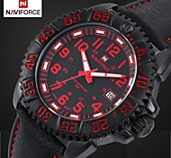 Men's Fashion Waterproof Military Watch Leather Band Luminous Dial Sports Wrist Watch (Assorted Colors)