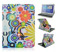 Color Painting Rotation Pattern PU Leather Full Body Case with Card Slot for Samsung Galaxy Tab 4 10.1 T530