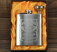 Multifunctional Thickening 7oz Jack Daniels Stainless Steel Pocket Hip Whiskey Portable Flask Suit with A  Funnel