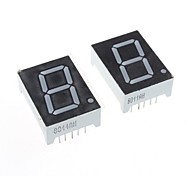 compatível (por arduino) 1 dígito de 10 pinos módulo display -. 0.8in (2pcs)